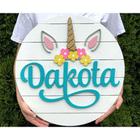 Unicorn Name Sign Custom Made