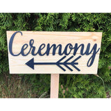 Wedding Ceremony Direction Sign