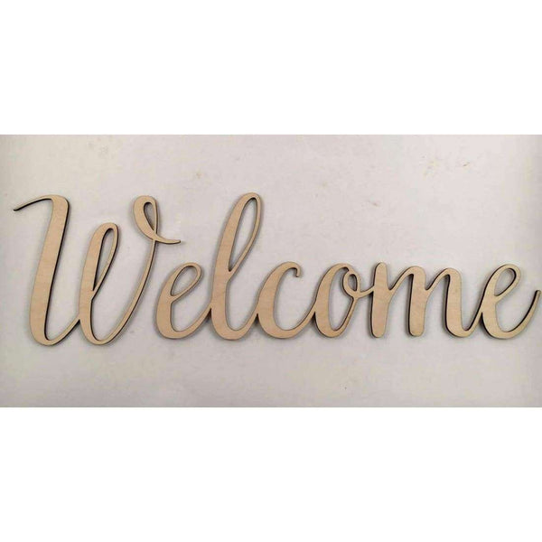Welcome Wood cutout