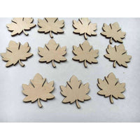Wooden Maple Leaf Blanks