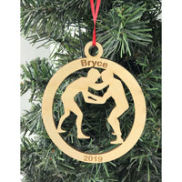 Wrestling Ornament Personalized and Engraved