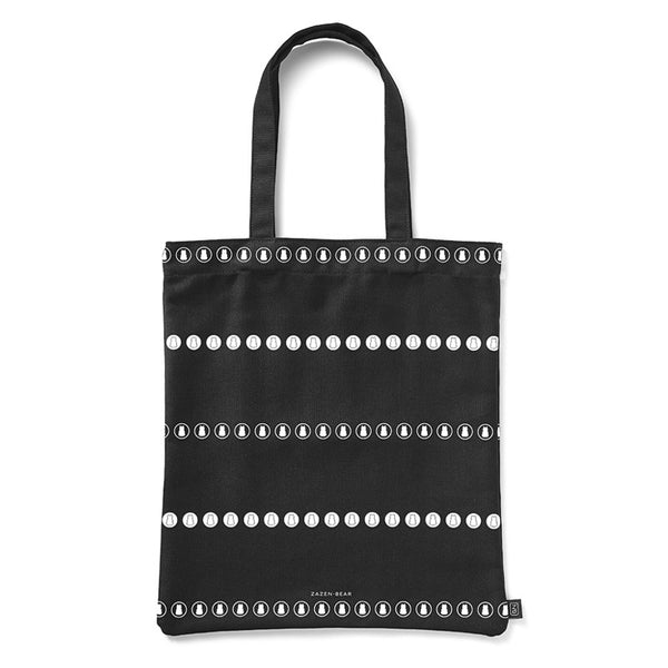 Circle Stripe Canvas Tote Bag