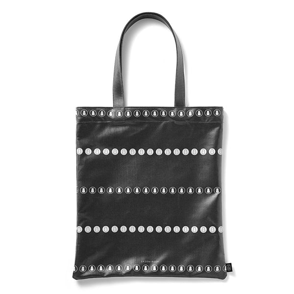 Circle Stripe Coated Canvas Tote Bag