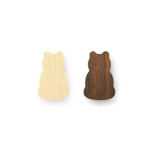 Zazen Bear Two-tone Wooden Magnets