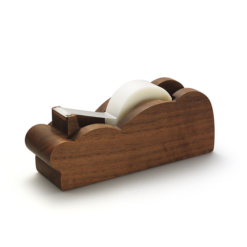 Zazen Bear Wooden Tape Dispenser_Walnut