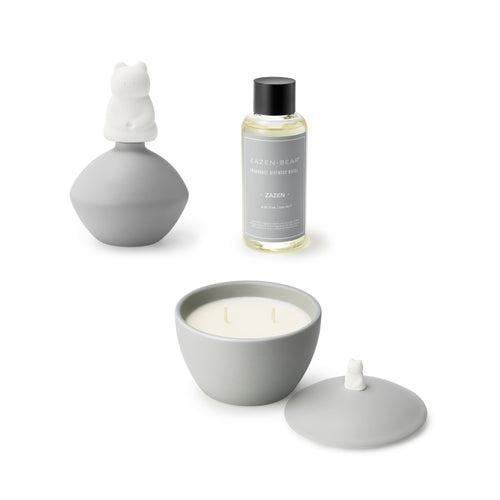 Fragrance Candle & Diffuser Set (Zazen - Gray)