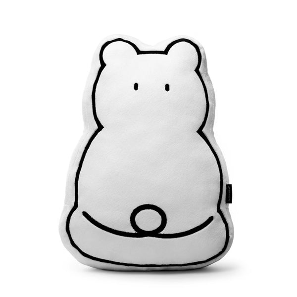 Zazen Bear Embroidery Cushion