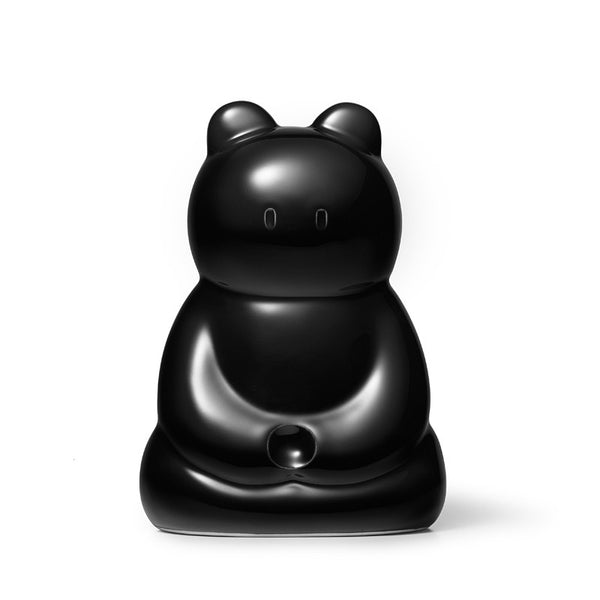 Zazen Bear Ceramic Figure - Black