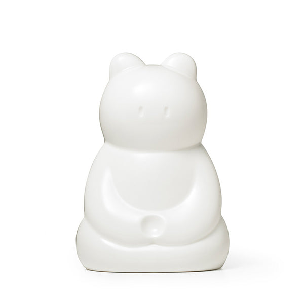 Zazen Bear Ceramic Figure - White