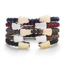 Zazen Bear Single Braided Leather Bracelet