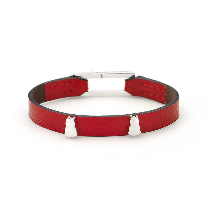 Zazen Bear Linked Single Wrap Bracelet