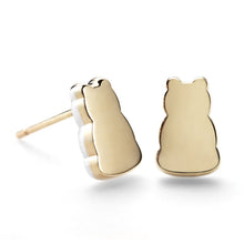 Solid Flat Motif Earrings - 14K Gold