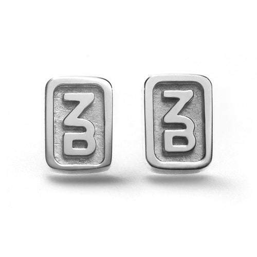 Solid Monogram Earrings