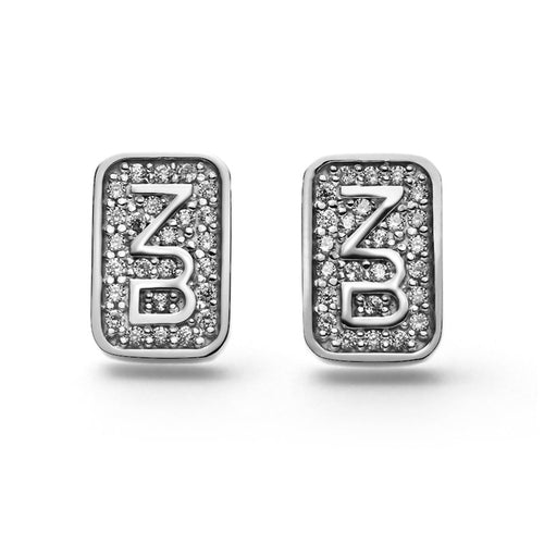 Diamond Monogram Earrings