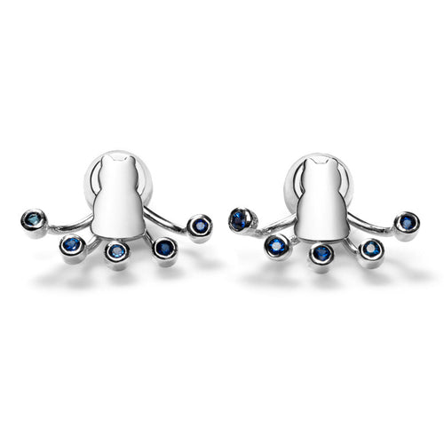 Motif Sapphire Starburst Earrings