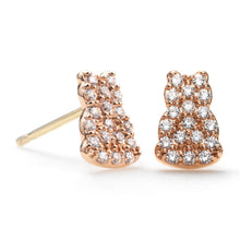 Diamond Motif Stud Earrings
