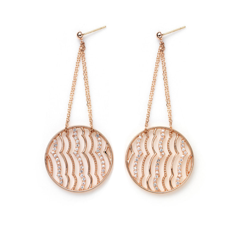 Zen Garden I Wave II. Earrings