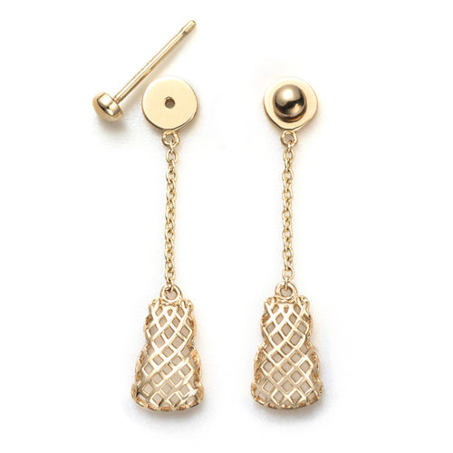 Connected Dangling Motif Earrings