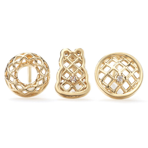 Connected Lattice Earrings Set