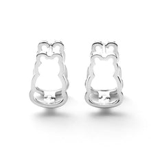 Double Open Motif Stud Earrings