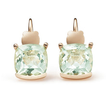 Pure Cushion Green Quartz Earrings