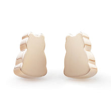 Oblique Motif Stud Earrings