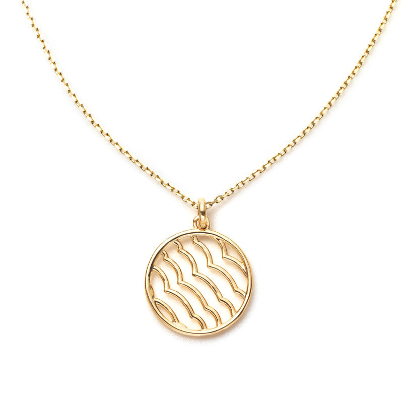 Zen Garden Wave Necklace