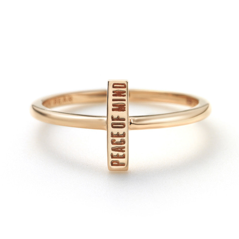 Peace of Mind Bar Posey Ring