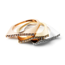 Zen Garden I Diamond Wave Ring - 14K Pink Gold