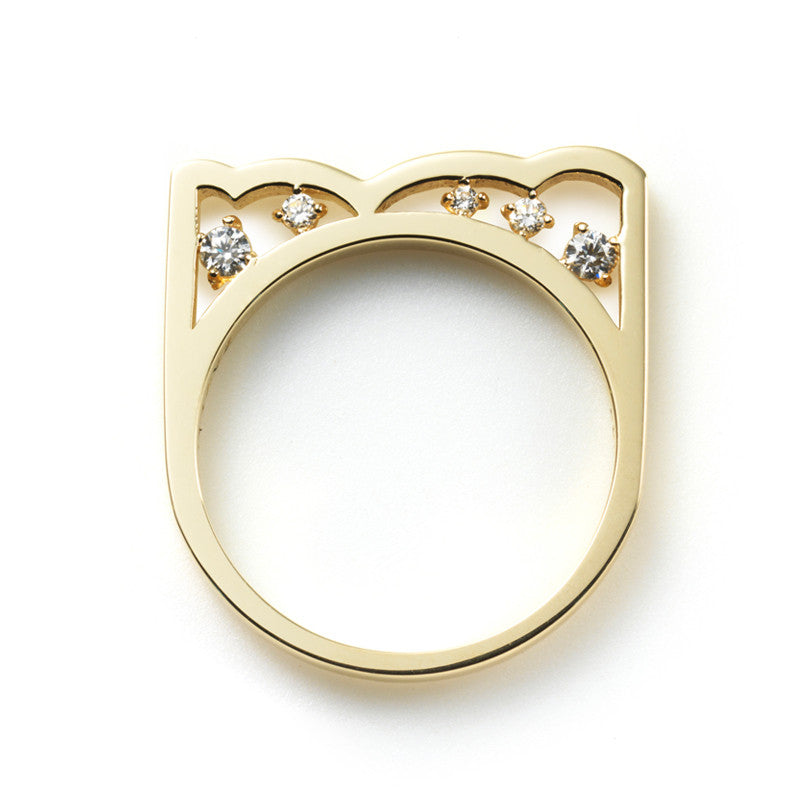 Zen Garden I Multi-Diamond Bear Ring