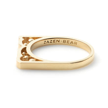 Zen Garden I Multi-Diamond Double Bear Rings