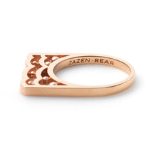 Zen Garden I Multi-Diamond Double Bear Ring