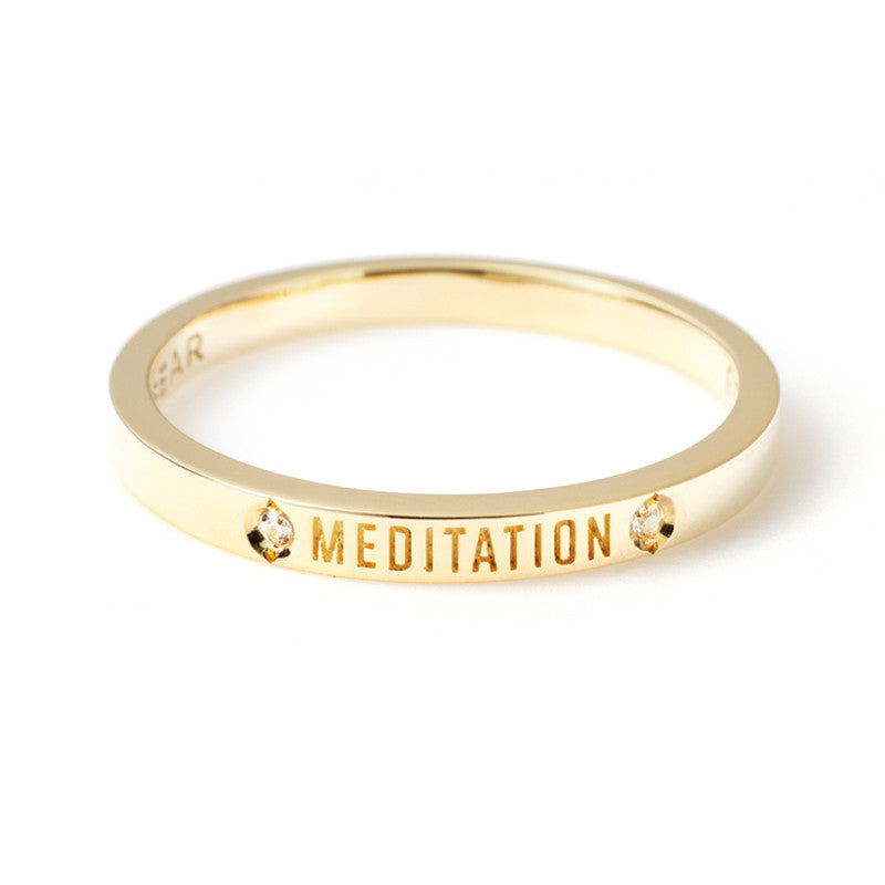 Meditation Posey Ring with Diamonds