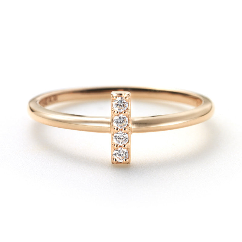 Mini Diamond Bar Posey Ring