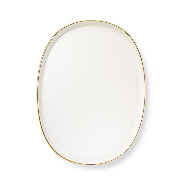 Ceramic Layered Tray Oval Large - Gold