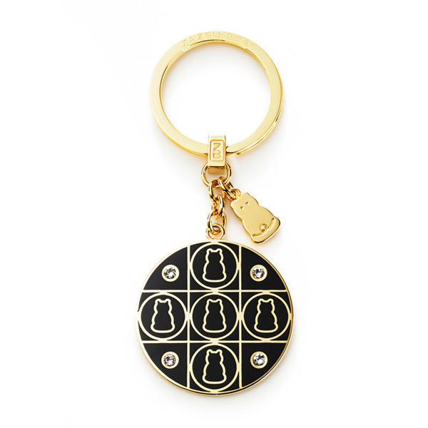 Zazen Bear Grid Key Ring