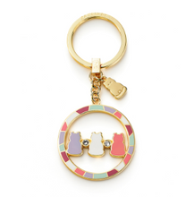 Triple Zazen Bear Key Ring