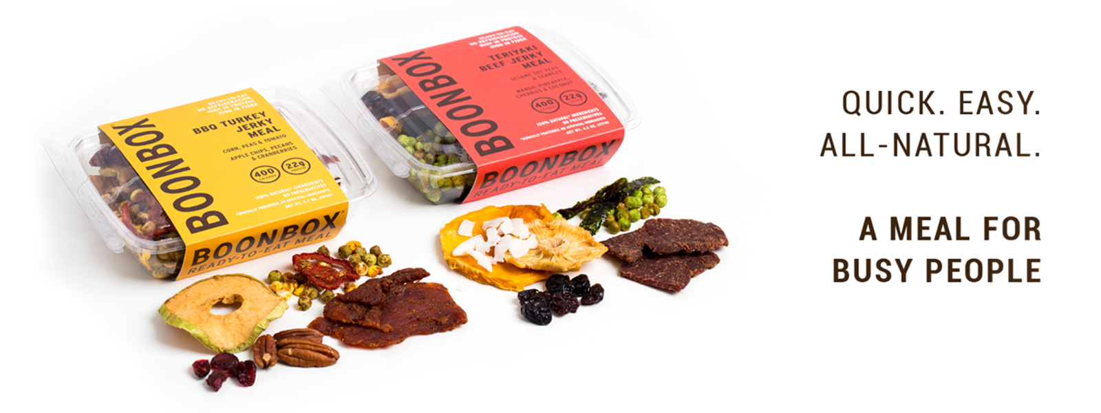 BOONBOX: QUICK. EASY. ALL-NATURAL. A MEAL FOR BUSY PEOPLE