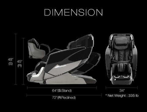 osaki ekon massage chair dimensions
