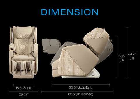 osaki soho massage chair dimensions