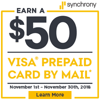 $50 Synchrony Financing Event