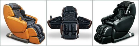 dreamwave m series massage chairs doors side view front view