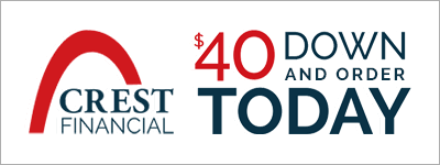 Massage Chair Financing through Crest Financial with only $40 down payment