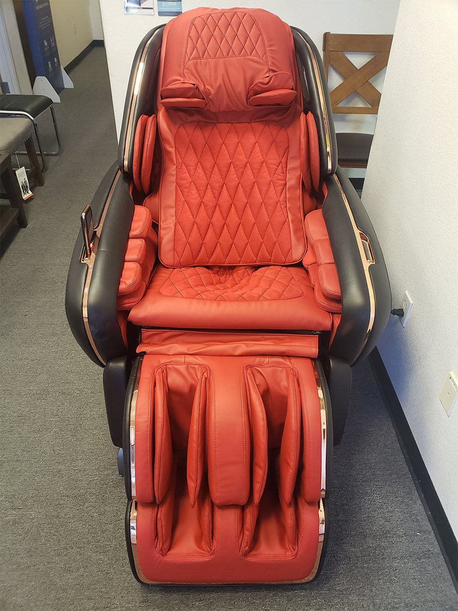OHCO M.8 LE Massage Chair- Nero Rosso (Open Box Special)