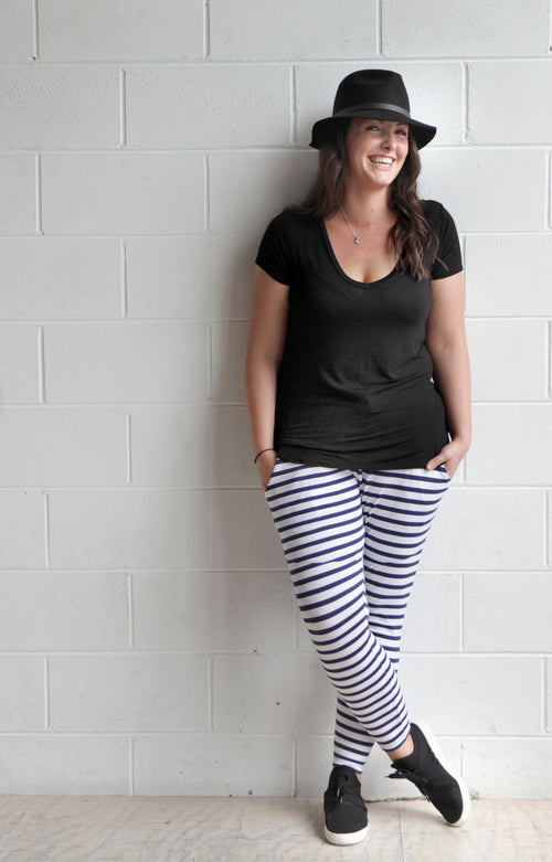 Ladies Stevie Stripe Jogger