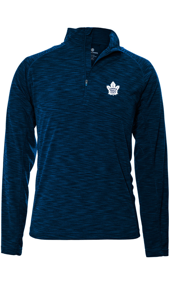 Men's Toronto Maple Leafs Mobility Insignia Strong Style 1/4 Zip Pullover Top - Bleacher Bum Collectibles, Toronto Blue Jays, NHL , MLB, Toronto Maple Leafs, Hat, Cap, Jersey, Hoodie, T Shirt, NFL, NBA, Toronto Raptors