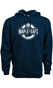 Men's Toronto Maple Leafs Advantage Peyton Pullover Hooded Navy Sweatshirt - Bleacher Bum Collectibles, Toronto Blue Jays, NHL , MLB, Toronto Maple Leafs, Hat, Cap, Jersey, Hoodie, T Shirt, NFL, NBA, Toronto Raptors