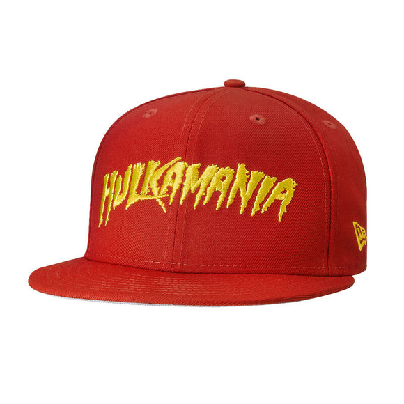Hulk Hogan Hulkamania WWE Wrestling New Era 9Fifty Adjustable Snapback Red Hat Cap