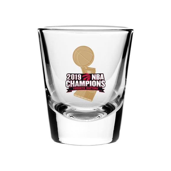 Toronto Raptors 2019 NBA Finals Champions Basketball 2oz Collector's Shot Glass