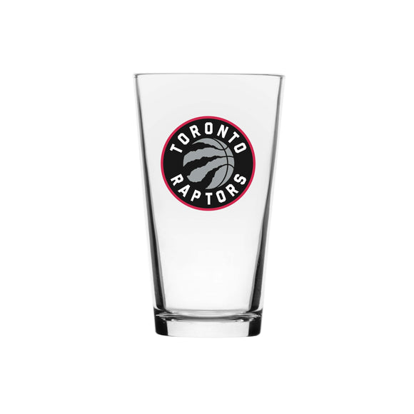 Toronto Raptors Primary Logo NBA Basketball 16oz Clear Drinking Mixing Glass
